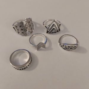 4 Silver Tone Ring